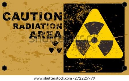 radiation sign - stock vector
