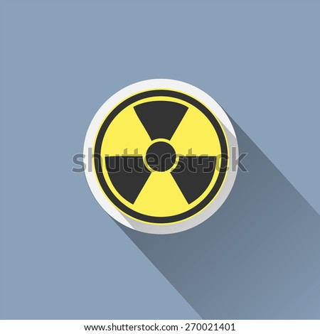 Radiation sign icon. Danger symbol. - stock vector