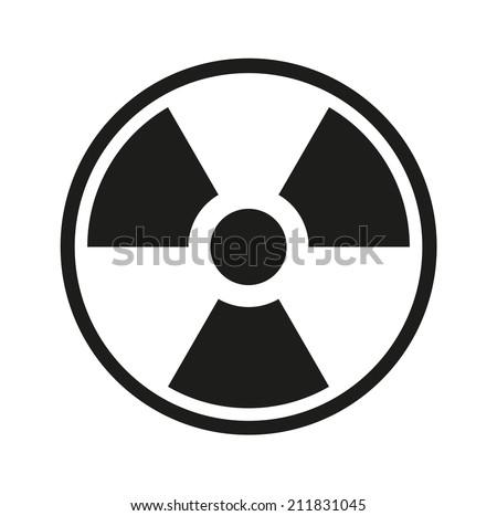 radiation symbol - stock vector