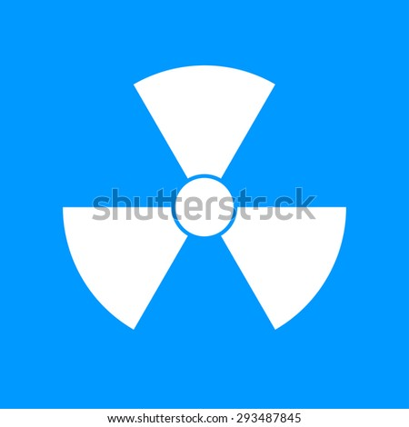 radiation symbol. Flat design style eps 10 - stock vector
