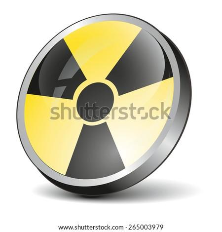 Radiation Symbol icon - stock vector