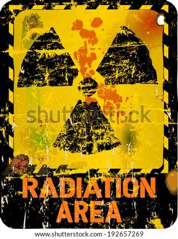Radiation warning, vector illustration - stock vector