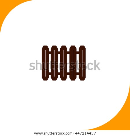 Radiator sign. Brown icon on white background