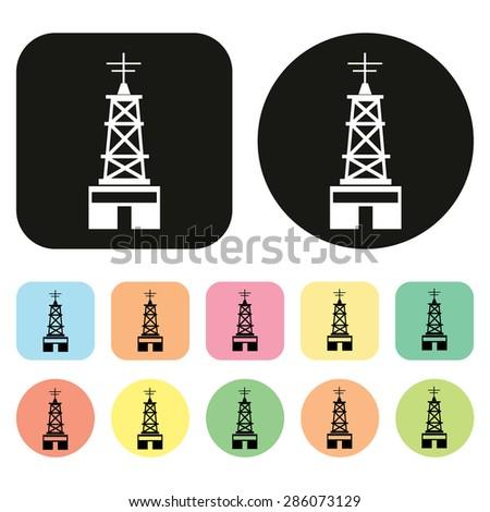 Radio Broadcasting Station. Signal icon. Vector - stock vector