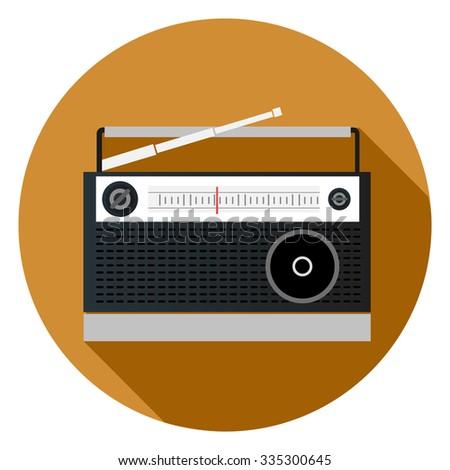 radio icon - stock vector