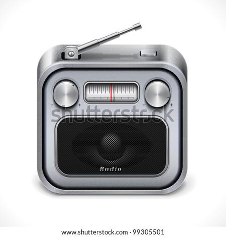 Radio icon,eps10 vector illustration - stock vector