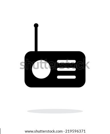 Radio icon on white background. Vector illustration. - stock vector