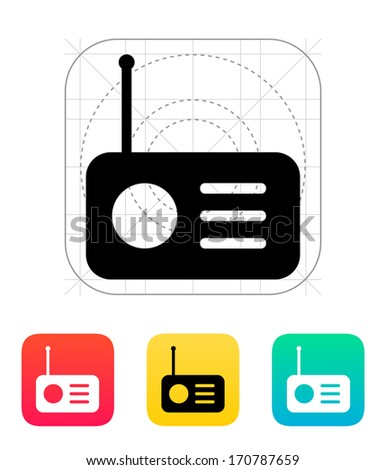 Radio icon. Vector illustration. - stock vector