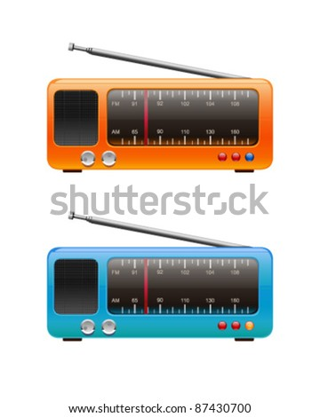 Radio isolated - stock vector