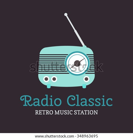 Radio logo template. - stock vector