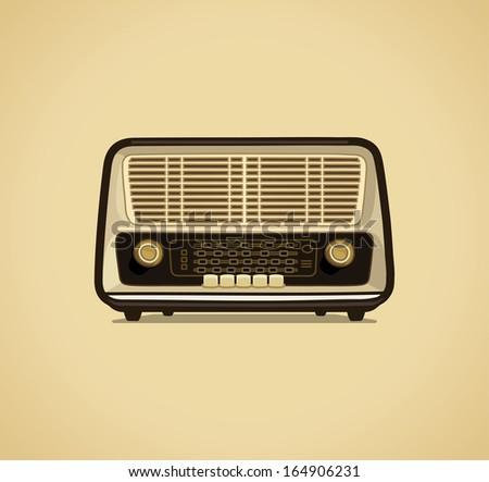 Radio receiver - stock vector