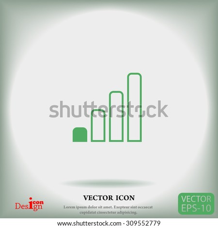 radio signal level vector icon