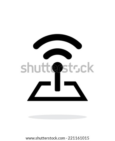 Radio tower base icon on white background. Wireless technology. Vector illustration. - stock vector