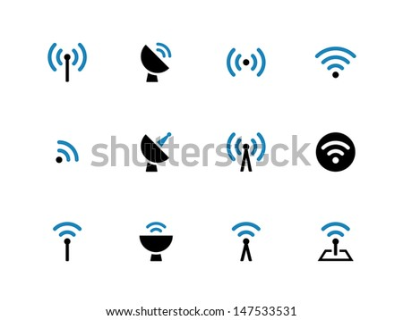 Radio Tower icons. Wireless technology. Vector illustration. - stock vector