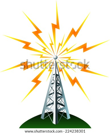 Radio tower transmission icon  - stock vector