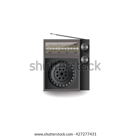 Radio. Vector illustration