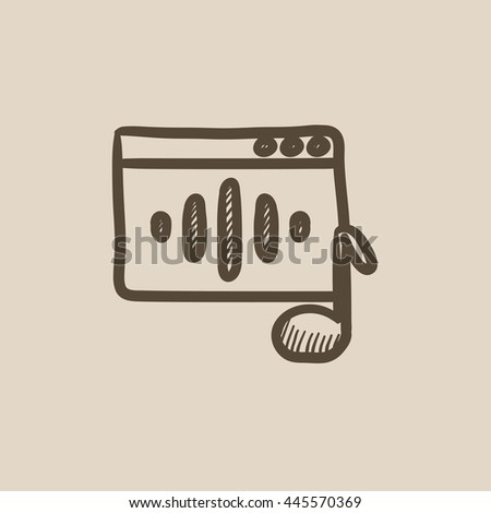 Radio vector sketch icon isolated on background. Hand drawn Radio icon. Radio sketch icon for infographic, website or app. - stock vector