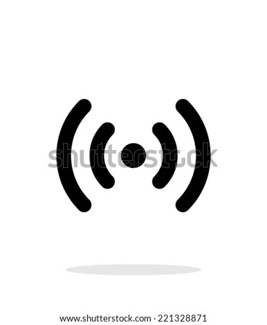Radio waves icon on white background. Wireless technology. Vector illustration. - stock vector