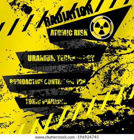 Radioactive contamination abstract background - stock vector