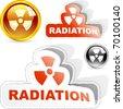 Radioactive elements. Vector illustration. - stock photo
