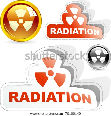 Radioactive elements. Vector illustration. - stock vector