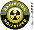 Radioactive icon. Vector illustration. - stock vector