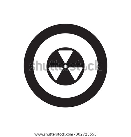 Radioactive nuclear icon - stock vector