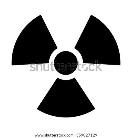 Radioactive / radiation symbol flat icon for websites print - stock vector
