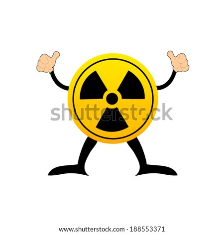 Radioactive round sign isolated on white - stock vector
