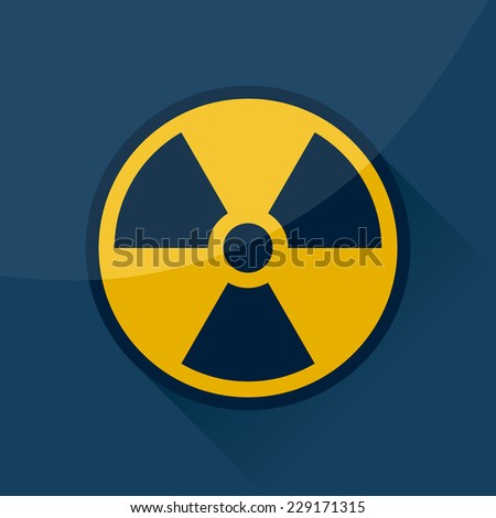 Radioactive sign and symbol, vector design. - stock vector