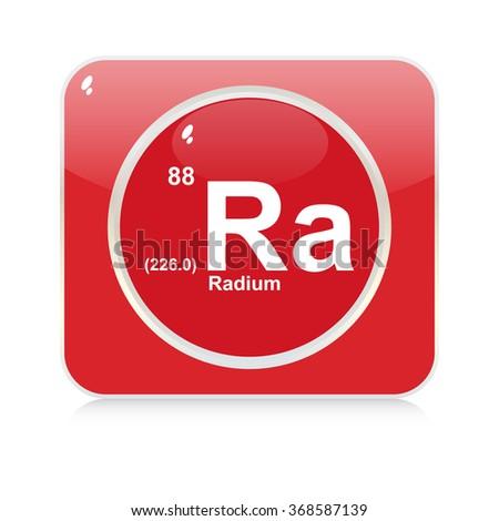 radium chemical element button - stock vector