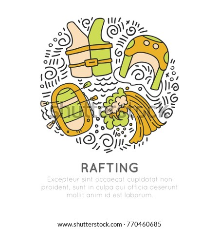 Rafting illustration