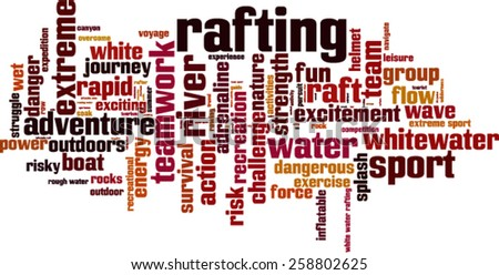 Rafting word cloud concept. Vector illustration - stock vector