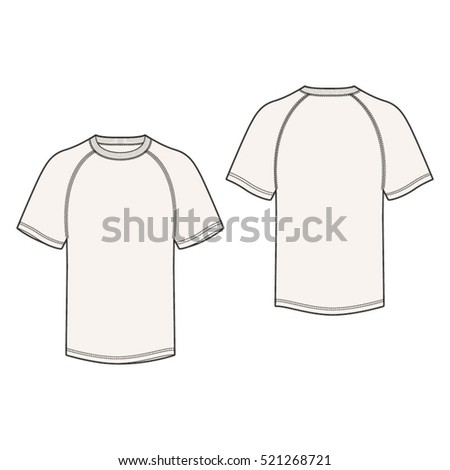 Raglan Sleeve Tshirt Template Stock Vector 521268721 - Shutterstock