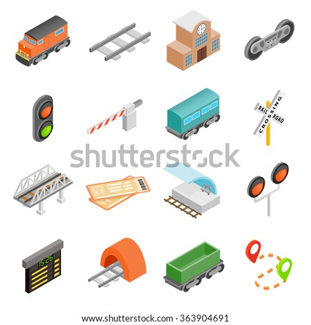 Railroad icons. Railroad icons art. Railroad icons web. Railroad icons new. Railroad icons www. Railroad icons app. Railroad set. Railroad set art. Railroad set web. Railroad set www. Railroad set app - stock vector