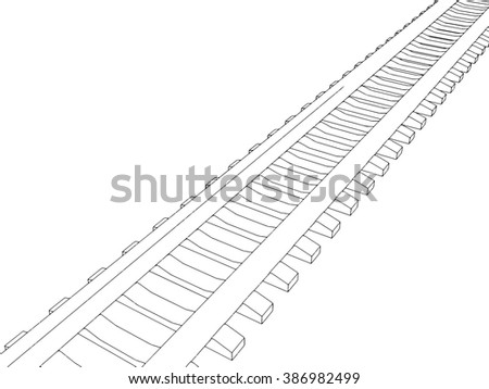 Railway vector illustration on white background 3
