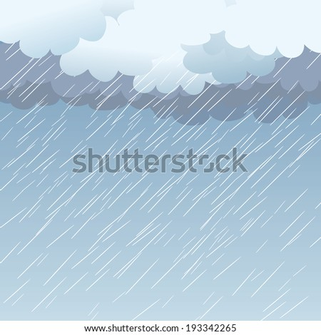Rain as a background, vector illustration - stock vector