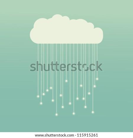 Rain Background/Raining - stock vector