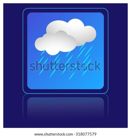 rain, cloud, icon - stock vector