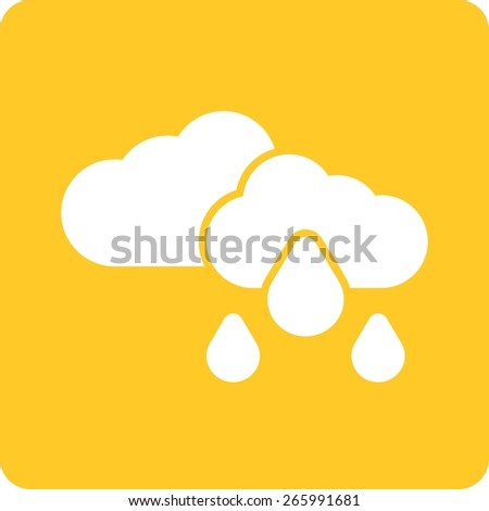Rain, clouds, sky, cloudy icon vector image. Can also be used for weather, forecast, season, climate, meteorology. Suitable for web apps, mobile apps and print media. - stock vector