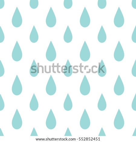 Rain drops seamless pattern on white background illustration