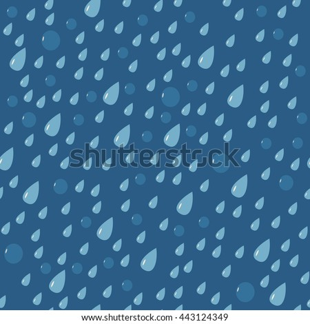Rain drops seamless pattern. Vector illustration.