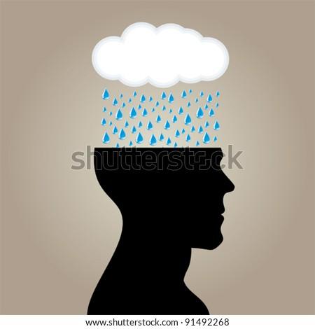 Rain head - stock vector