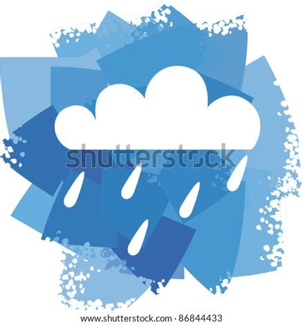 rain icon - stock vector