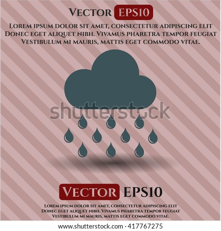 Rain icon, Rain icon vector, Rain icon symbol, Rain flat icon, Rain icon eps, Rain icon jpg, Rain icon app, Rain web icon, Rain concept icon, Rain website icon, Rain, Rain icon vector - stock vector
