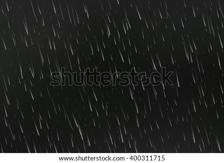 Rain on black. Vector rain texture. Abstract vector background