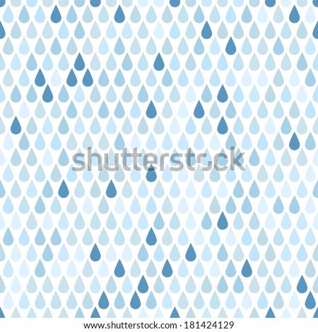 Rain. Seamless background. - stock vector