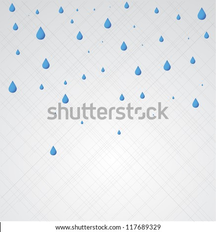 Rain. Vector - stock vector