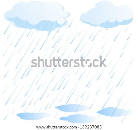 rain vector - stock vector