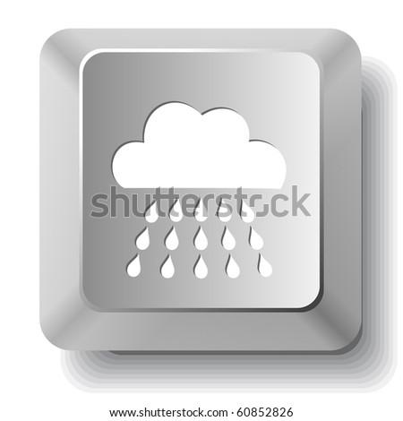 Rain. Vector computer key. - stock vector